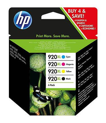 HP 920 XL - Оригинальные картриджи (подходит для HP Officejet), черный / синий / пурпурный / желтый, фото 2