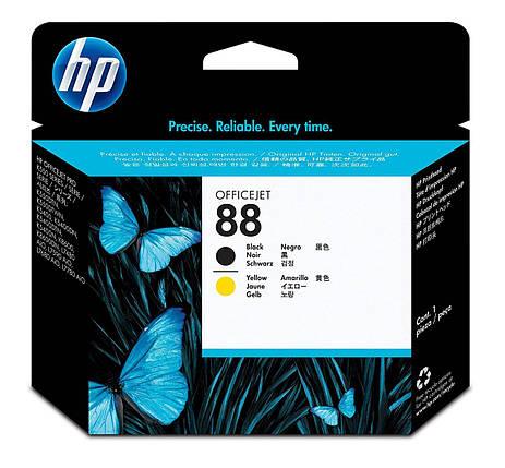 HP C9381A - Черная и желтая оригинальная печатающая головка HP 88 (C9381A), фото 2