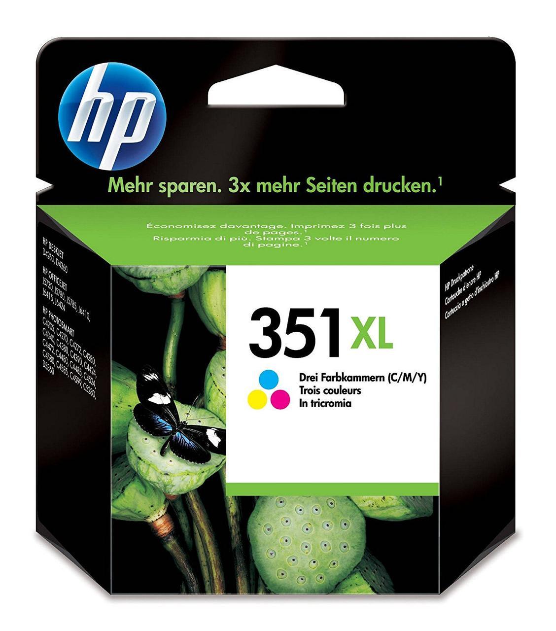 HP Tintenpatrone 351 XL - Трехцветный оригинальный чернильный картридж HP 351XL с высокой яркостью