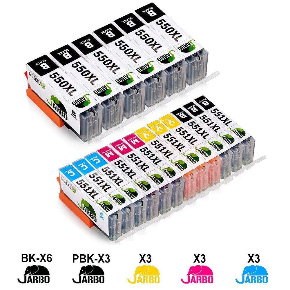 JARBO 18 Pack PGI-550XL CLI-551XL - Аналог картриджей Canon PGI-550 CLI-551