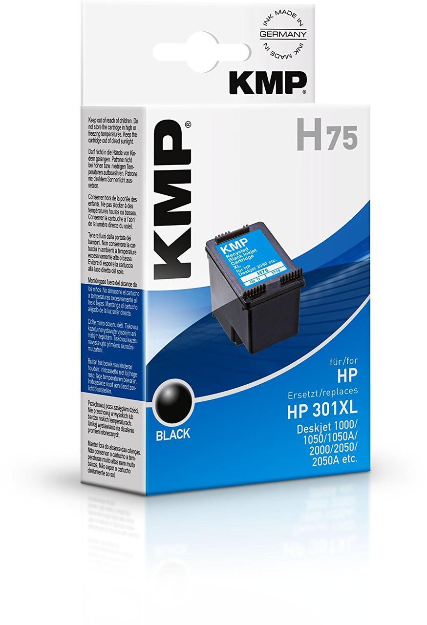 KMP H75 - Чернильные картриджи KMP H75 аналог HP 301XL, черный