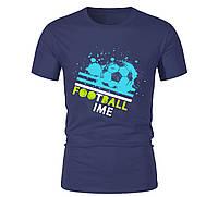 Футболка FOOTBALL TIME  для мужчин синяя