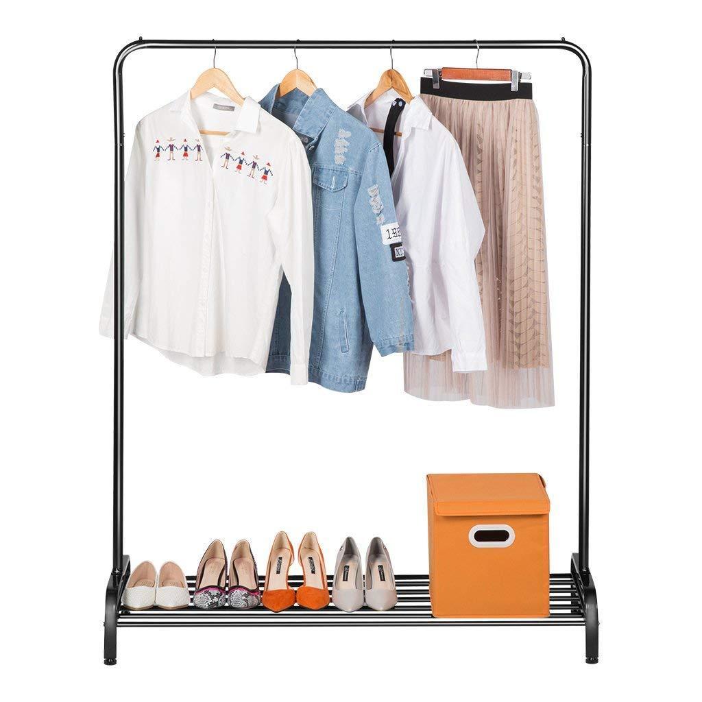Вешалка для верхней одежды с полкой для обуви - LANGRIA металлическая 120 х 45 х 160 см