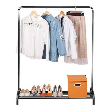 Вешалка для верхней одежды с полкой для обуви - LANGRIA металлическая 120 х 45 х 160 см, фото 2