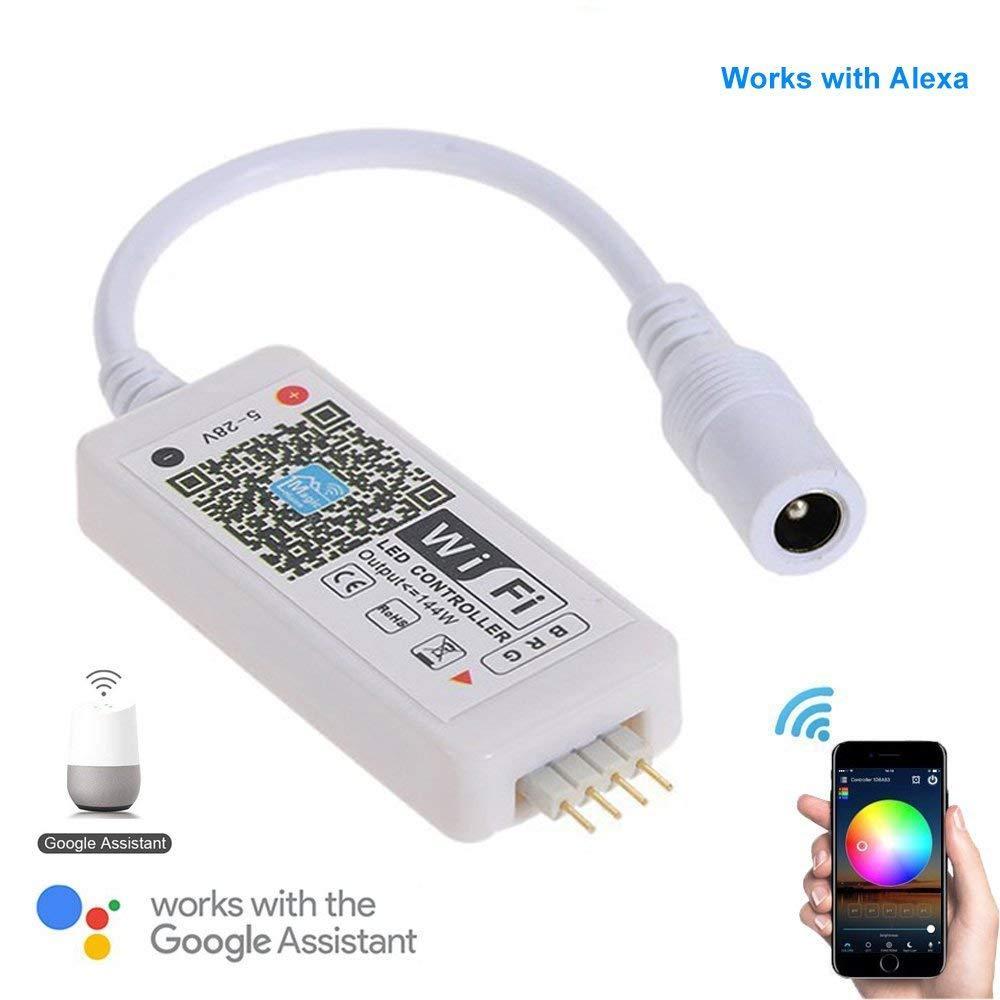 Дистанционный контроллер WiFi - RGB LED Controller WiFi DC 5-28V per 5050/3528 LED RGB