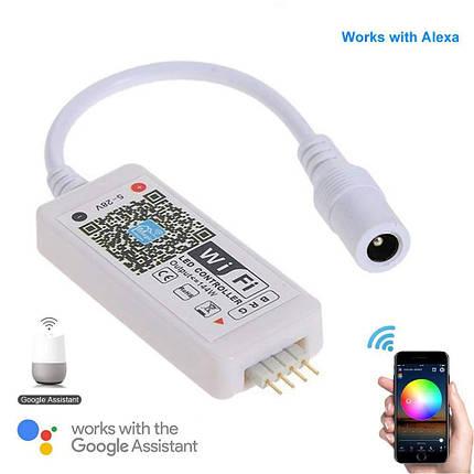 Дистанционный контроллер WiFi - RGB LED Controller WiFi DC 5-28V per 5050/3528 LED RGB , фото 2