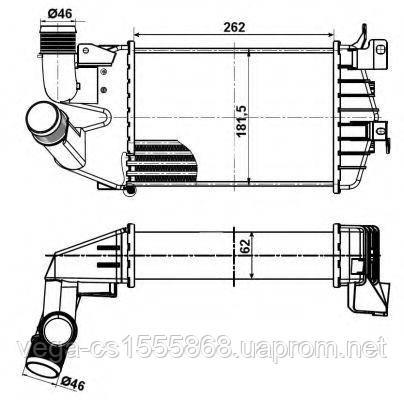 Интеркулер NRF 30307 на Opel Astra / Опель Астра