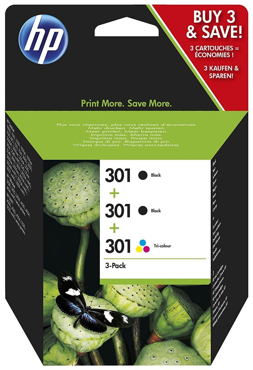Картриджи для принтеров HP 301 Multipack (2x черный, 1x цвет)
