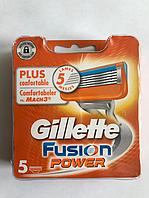 Сменный лезвия Gillette Fusion Power упаковка 5 шт, фото 1