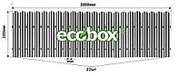 МU-500х2000/22 Паркан металевий оцинкований Євроштахет ЕСОВОХ© / Забор штакетный металлический