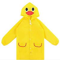 Дождевик детский, желтый цыпленок, дождевик