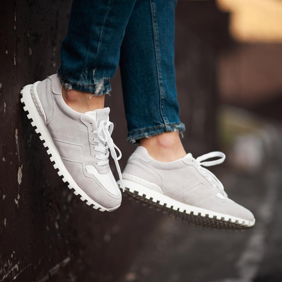 Мужские кроссовки South Classic white. Натуральная замша