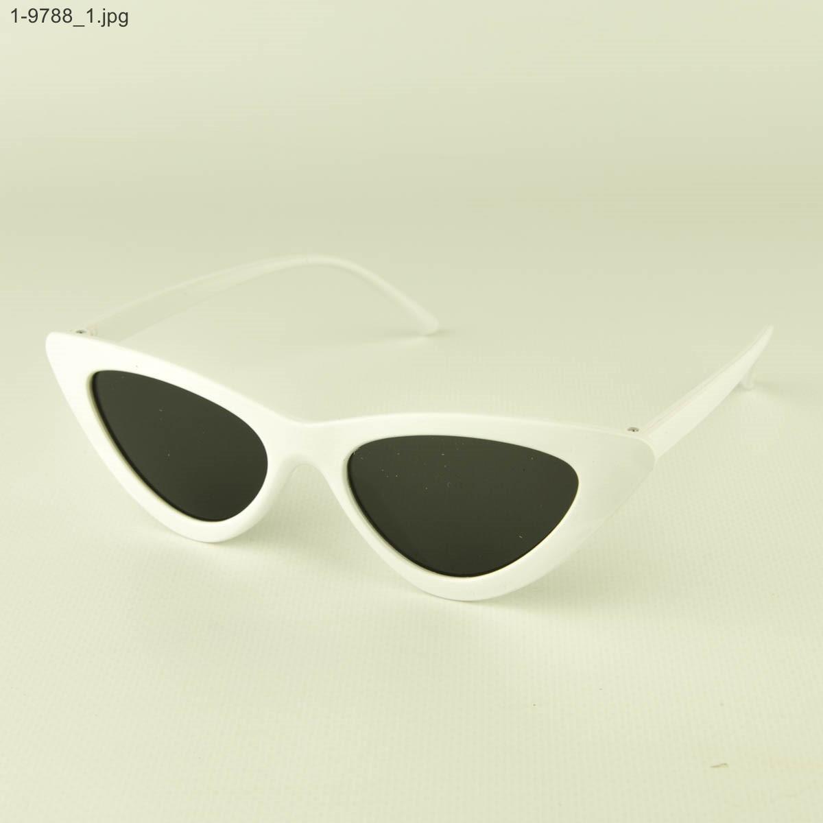 Солнцезащитные женские очки кошачий глаз - Белые - 1-9788