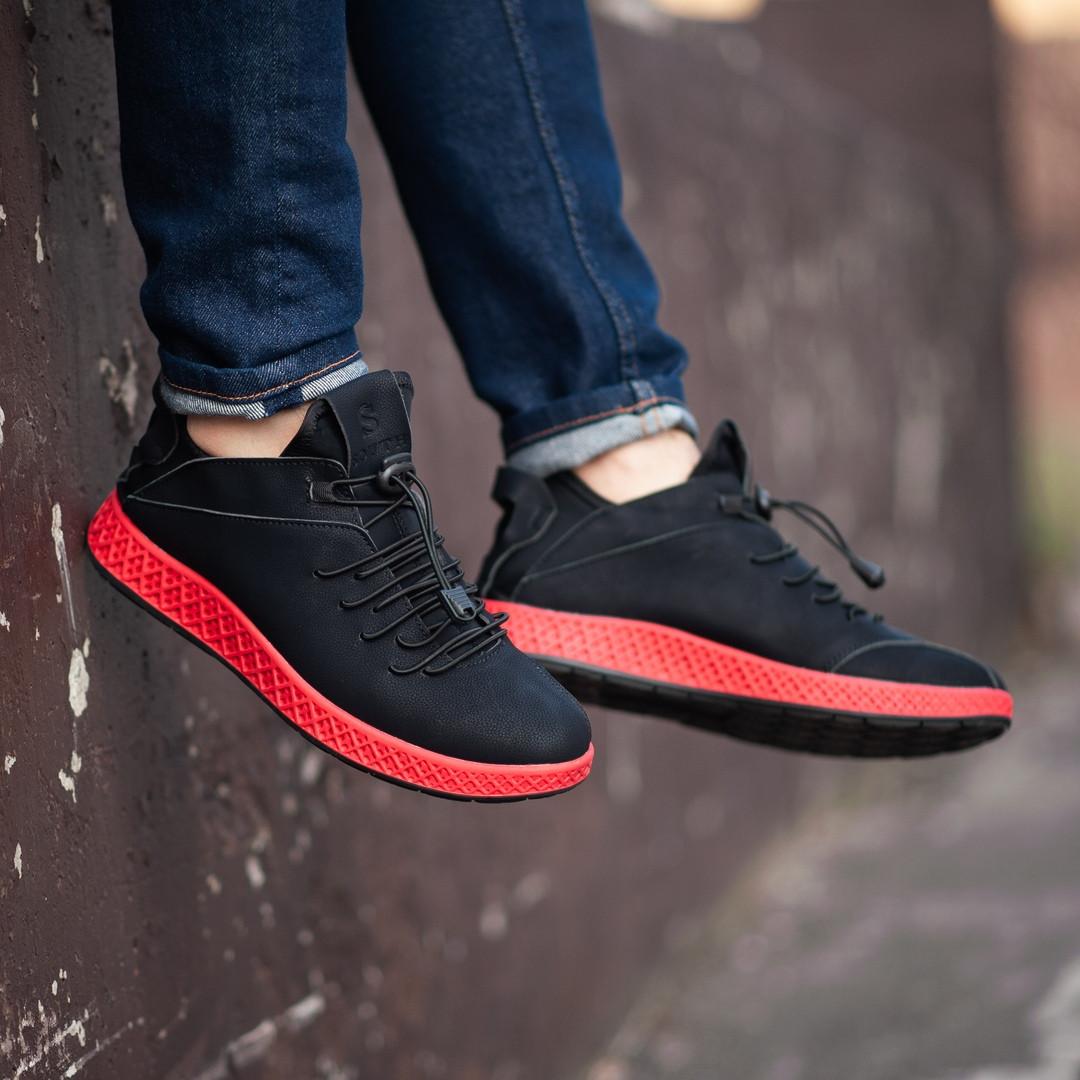 7b428109 Мужские кроссовки South Aron black. Натуральная кожа - Интернет-магазин
