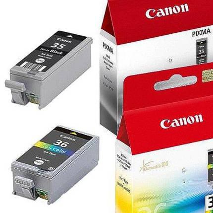 Мультипак для Canon CLI36 (2x картриджи, цвет черный +) CLI36 тонер, BK 1x 9,3 мл и 1x Col: 13 мл, фото 2