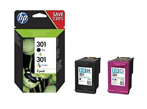 Оригинальный чернильный картридж HP N9J72AE 301, черный и трехцветный, комплект из 2