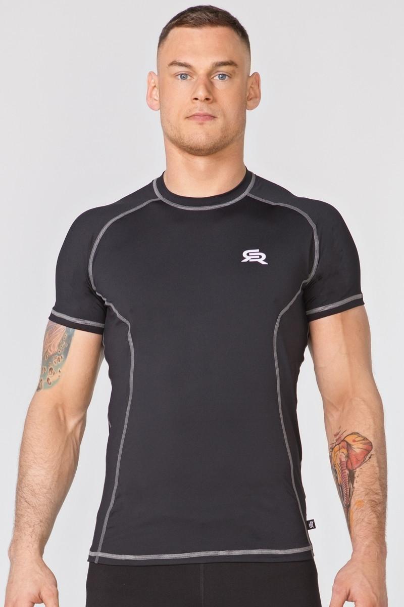 Компрессионная спортивная футболка Rough Radical Spin SS (original), мужской рашгард SportLavka