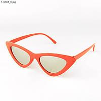 Зеркальные солнцезащитные женские очки кошачий глаз - Красные - 1-9788, фото 1