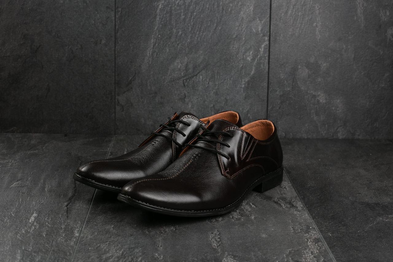 Туфли Slat 17104 (весна/осень, мужские, натуральная кожа, коричневый)