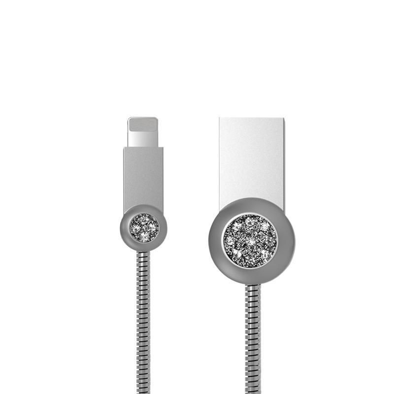 USB кабель Remax Moon RC-085i iPhone 7 Silver 1m