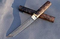 """Нож ручной работы из дамасской стали """"Танто"""""""