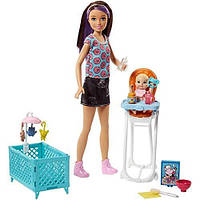 "Набір Барбі Скіппер няня ""Годування"" (FHY98) Barbie Skipper Babysitters Inc. Doll and Feeding Playset, фото 1"