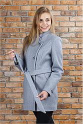 Пальто весеннее Керол цвет светло- серый 44