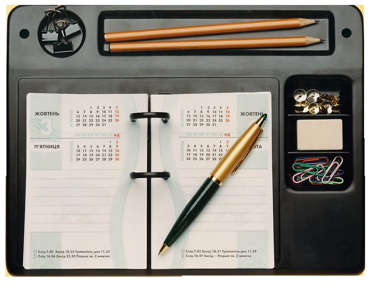 Підставка під календар з відділеннями