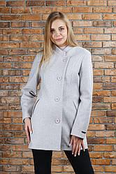 Пальто весеннее Керол цвет пудра 48