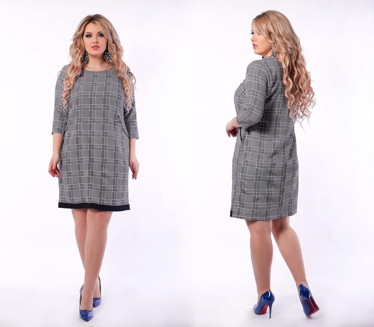 Весеннее платье для пышных дам