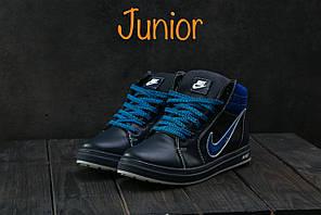 Кеды CrosSAV 35 (Nike) (зима, детские, натуральная кожа, синий)