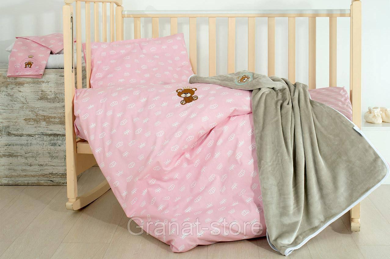 """Комплект постельного белья в кроватку """"Корона(роз)"""""""