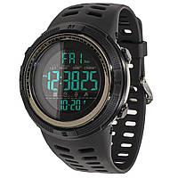 ☚Мужские часы SKMEI 1251 Coffee влагозащищенные наручные нержавеющая сталь круглый циферблат