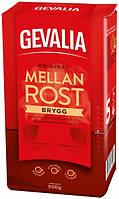 Молотый кофе арабика Gevalia(Жевалия) Brygg Mellanrost 500г.