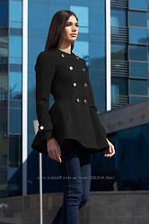 Пальто, полупальто Ирис (женское, подростковое) Чёрное