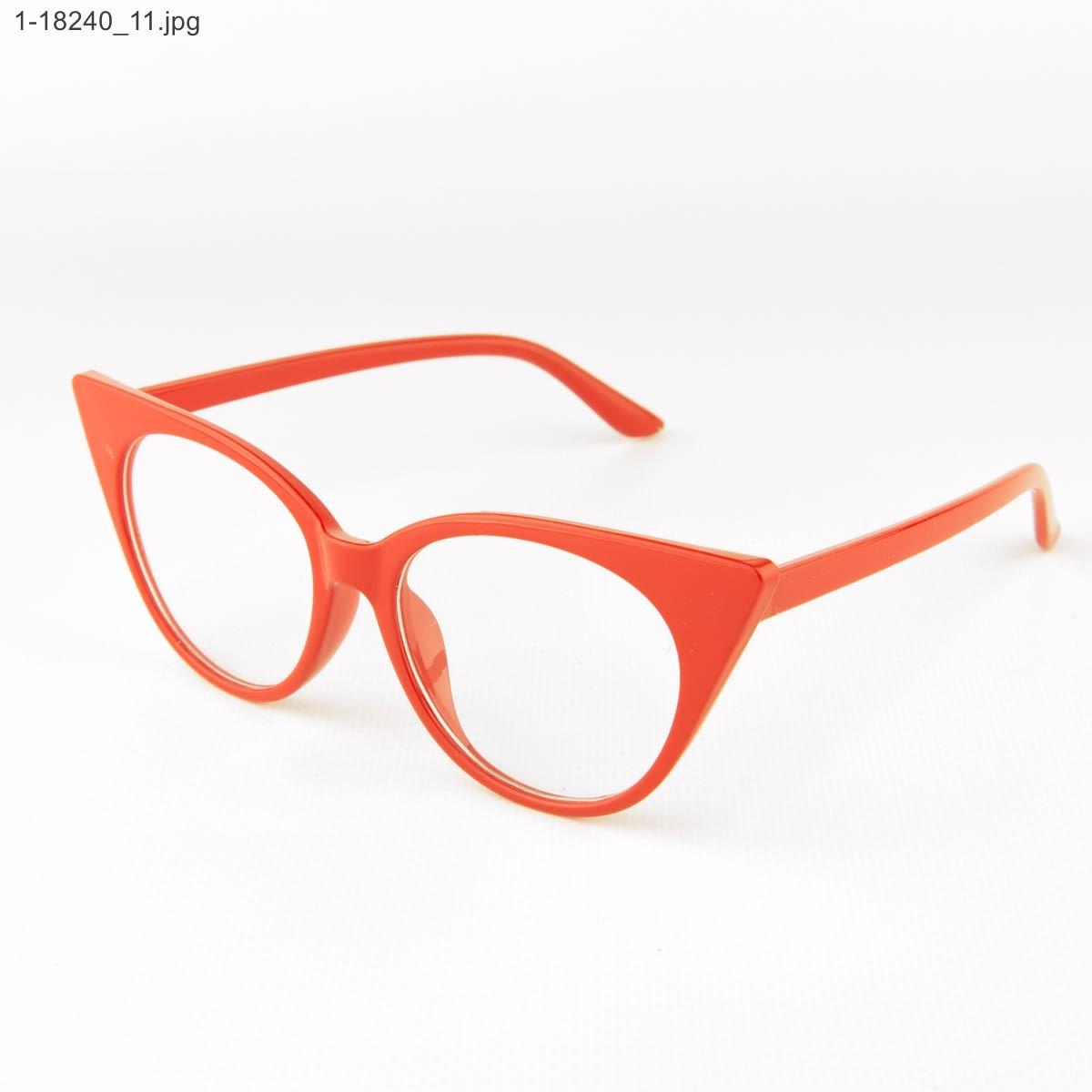 Имиджевые женские очки кошачий глаз - Красные - 1-18240