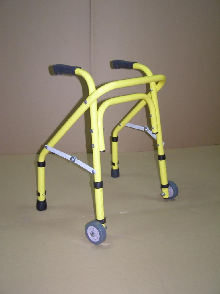 Ходунки регулируемые, складные, детские с 2-мя колесами НТ-03-009