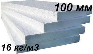 Пінопласт утеплювач для фасаду 100 мм Пінополістирол EPS 80 ПСБС-25 (щільність 15 кг / м3)
