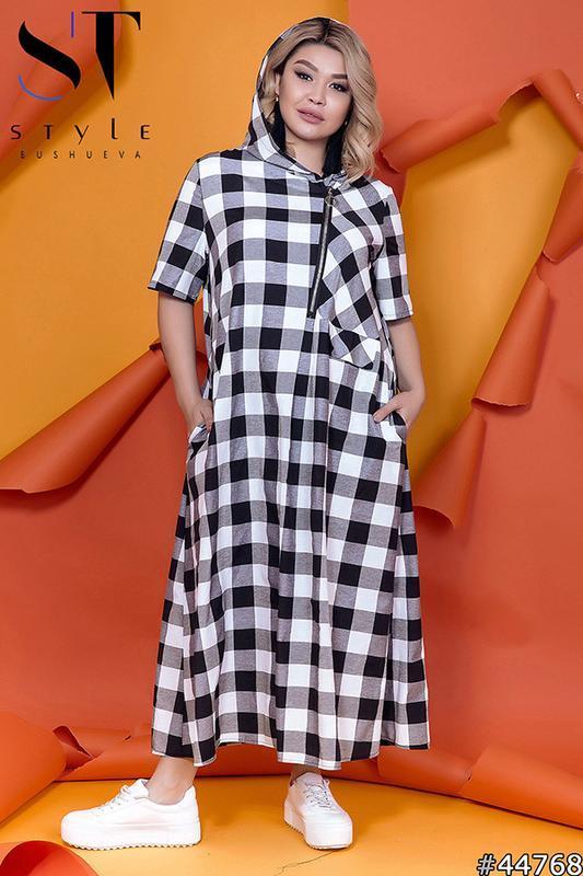 Жіноче довге плаття розміри:52-62