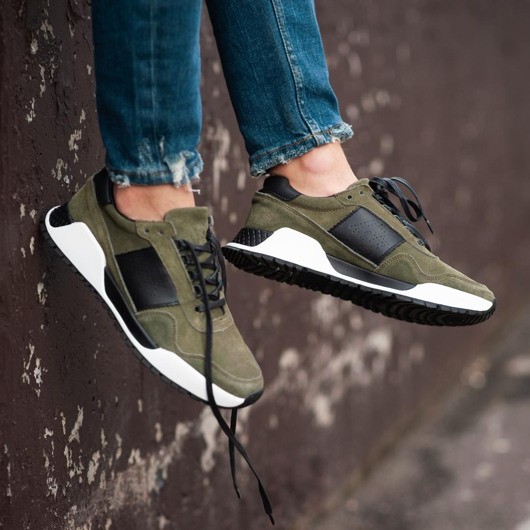 Чоловічі кросівки South Army green. Натуральна замша