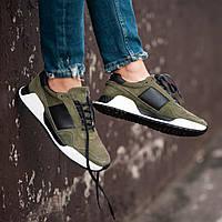 Чоловічі кросівки South Army green. Натуральна замша, фото 1