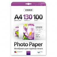 Videx Фотобумага HGA4 130/100 глянцевая 100 листов