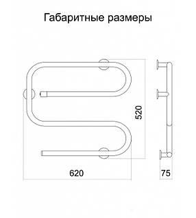 Полотенцесушитель электрический Еврозмейка L , фото 2