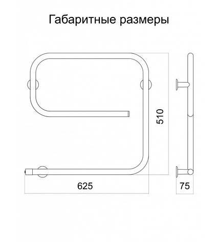 """Полотенцесушитель электрический Змейка """"Эго"""" L , фото 2"""