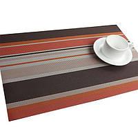 Сервировочные коврики, декоративные, на стол, 6 шт. в наборе, цвет - коричнево-оранжевый