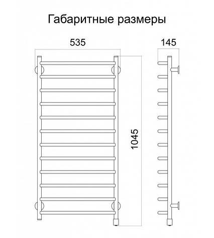 Полотенцесушитель электрический Метровый L , фото 2