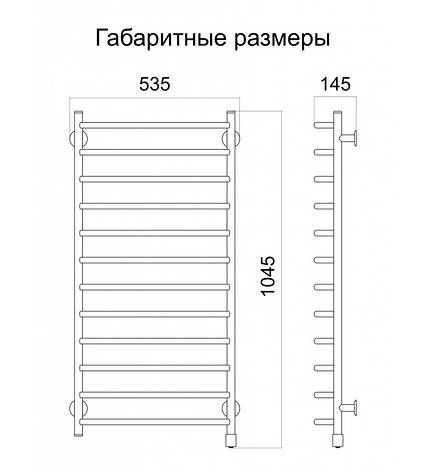 Полотенцесушитель электрический Метровый R , фото 2