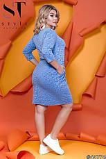 Платье женское офисное повседневное размеры:50-64, фото 3