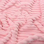 """Три лоскута  плюша в полоску """"Stripes"""" светло-розового цвета, размер 70*60,70*25,70*55 см, фото 2"""