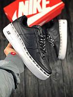 7654be55 ... Женские кроссовки в стиле Nike Air Force 1 low (Black/White), найк